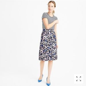 • J. Crew • A Line Knee Length Skirt Hibiscus 00